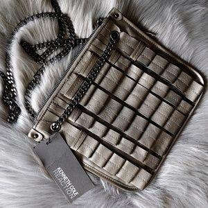 NWT Kenneth Cole Reaction Silver Crossbody Bag
